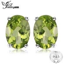 5d04bf759558 JewelryPalace Oval 1.8ct Natural verde Peridot piedra Stud pendientes de  plata de ley 925 Plata 2018 de la joyería para las muje.