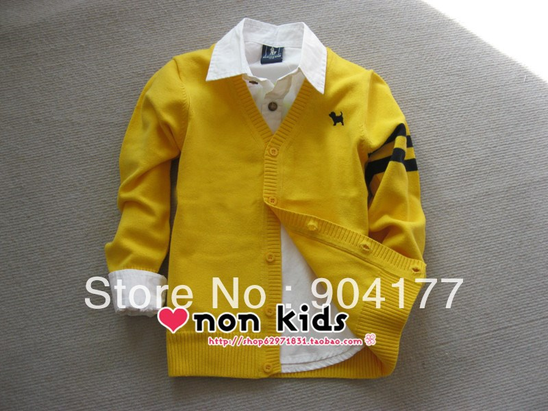 2016 spring autumn new sweater boy clothing school style cotton children sweater for boy