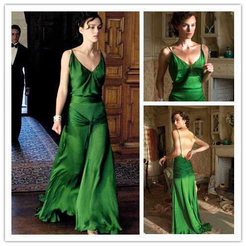 Keira Knightley Green Dress In Atonement