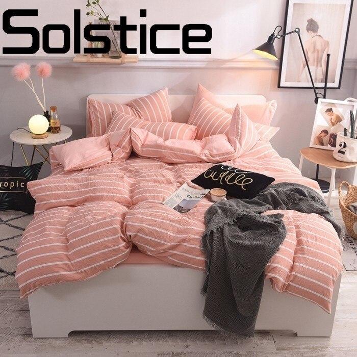 Solstice Textile de Maison De Mode Classique Peau de Raie Confortable Literie Impression Réactive Lit Feuille Housse de Couette Taie d'oreiller