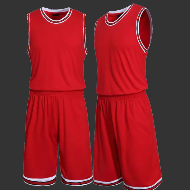 Male Blank Basketball Jersey Mens Sports Training Shirt and Short Set Adults Basketball Clothes Teams Uniform
