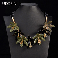 2015 New Style Acrylic Flower Necklace Pendant Big Brand Statement Choker Necklace For Women Jewelry 1898