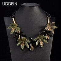 Uddein новые акриловые цветок ожерелье и кулон большой бренд себе Чокеры женские вечерние украшения Винтаж Макси ожерелье оптовая продажа