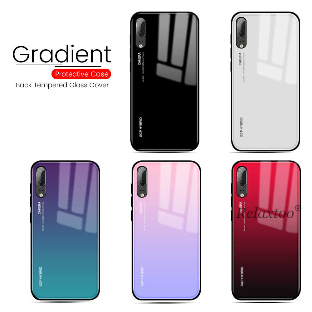 For Huawei P30 Pro Case Gradient Tempered Glass Phone Cases For Huawei P20 P30 Lite Mate 20 Pro P Smart 2019 Plus Nova 3 3i Case