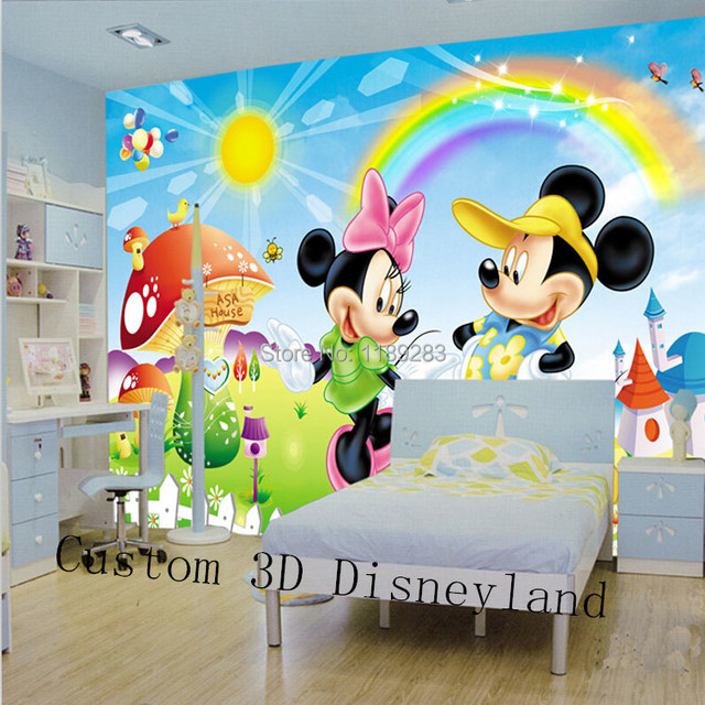 Photo Wallpaper Catoon Wall Mural For Kids Print Decal Hoom Decor