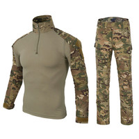 Military Uniform Multicam Army Combat Shirt Uniform Tactical Pants With Knee Pads Camouflage Suit Outdoor Hunting Clothes