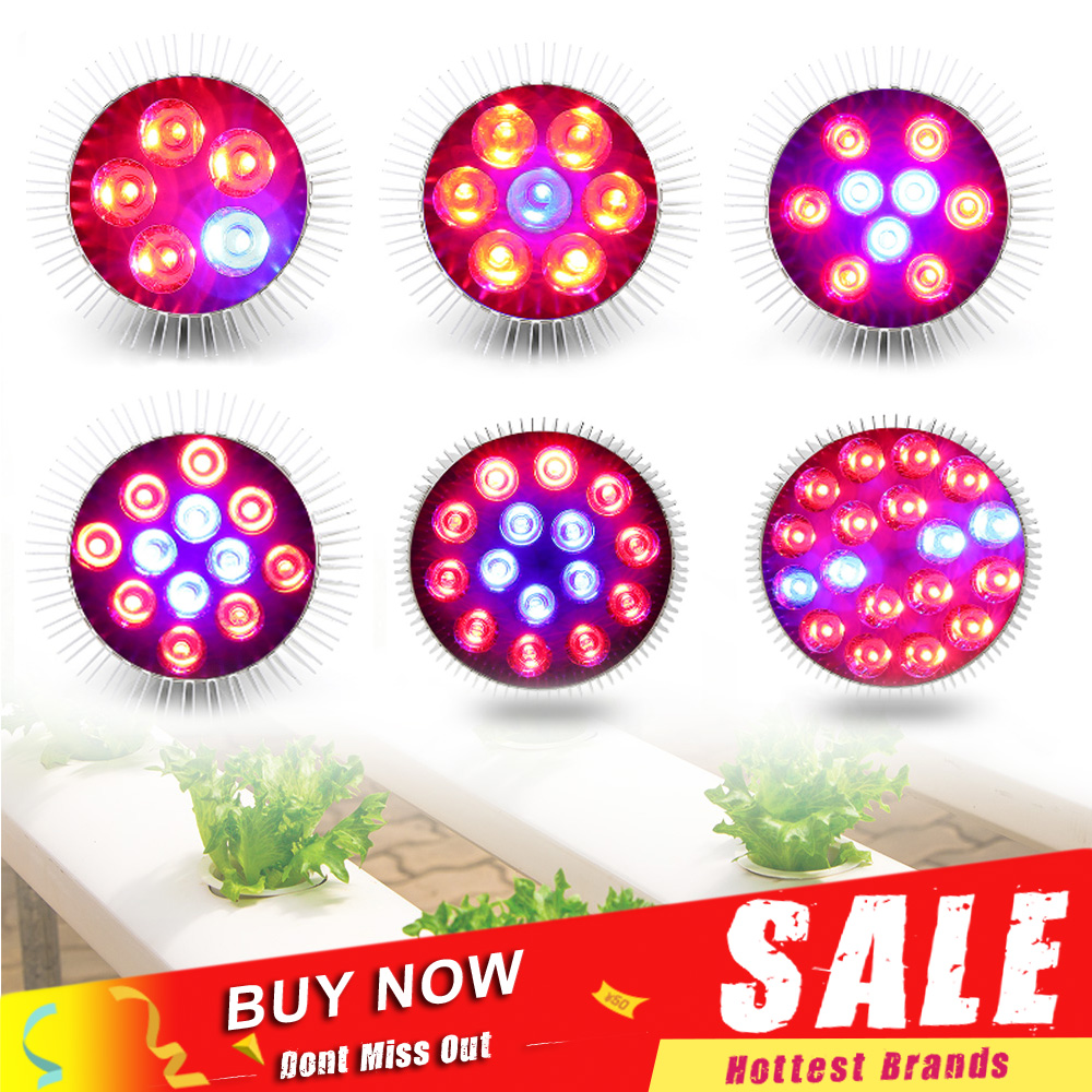 E27 LED Grow Light 15W 21W 27W 36W 45W 54W Led Growing Lamp Phytolamp Red Blue Flower Bulb For Plant Seeds Grow Box