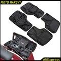 Negro Saddlemen Alforjas Duro Tapa Organizador Kit Para 1996-2013 Harley Touring