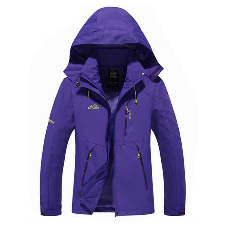 Thời trang phụ nữ áo khoác lông mùa xuân autumn phụ nữ đàn ông ngoài trời Áo Gió quần áo thể thao nữ không thấm nước windproof Du Lịch áo khoác