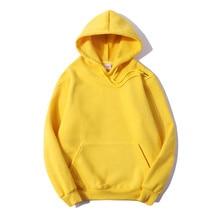 100% cotton Fleece Hoodies Mens Solid color Hip Hop Pullover Hooded Sweatshirts Streetwear Men women Fashion Hoodie Hoody цены