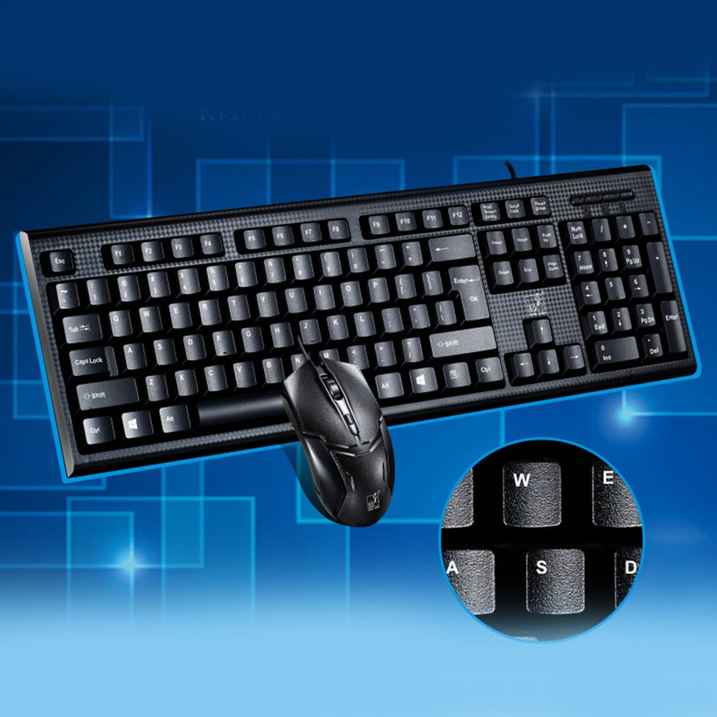 Q9 Mechanism Keyboard Mouse Kit Suit For Game Home Office Laptop Desktop Ergonomic Waterproof Suit(China)