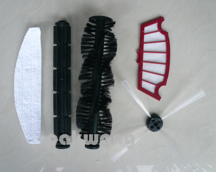 Seebest C565+  A320 Hair Brush, Rubber Brush, Mop, Filter and Side Brush of Robot Vacuum Cleaner Parts,