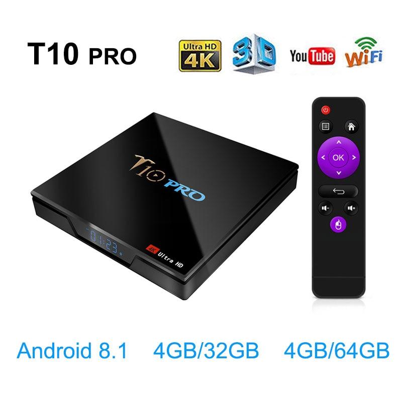 2019 nouveau T10 Pro TV Box Amlogic S905X2 2.4G/5G double WiFi BT4.1 Android 8.1 USB3.0 4K HD2.0 décodeur intelligent PK Mi Box MX10-in Décodeurs TV from Electronique    1