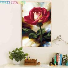 Full Diamond Painting The New Rose Diy Embroidery For Living Room Bedroom Vertical Version Of Flower 3 Size