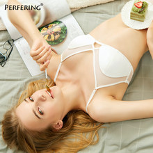 Perfering New Bralette Ultra Thin Lingerie Bra Transparent Sexy Underwear For Women Brand Sexy Intimates Black White(China)