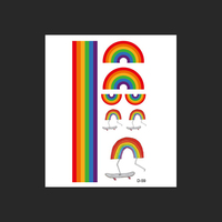 30pcs/lot Tattoo Stickers Beauty Body Art Tool Temporary Tattoo Rainbow Stripes Waterproof Tattoo Body Paint Art Gay Pride