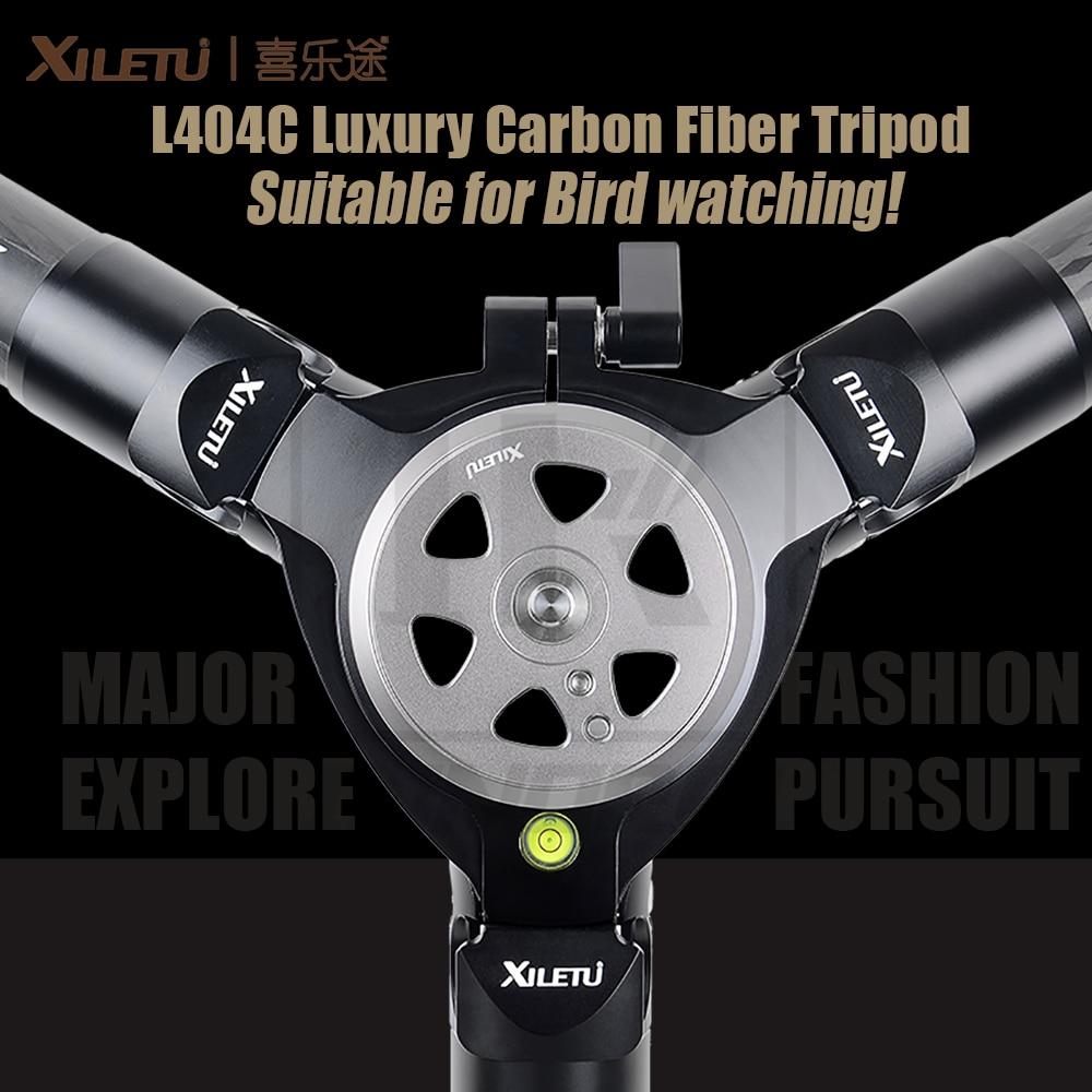 Xiletu l404c luxo tripé de fibra de carbono pássaro assistindo sem mid-axle 40mm grande tubo oco flange design 30kg capacidade de carga