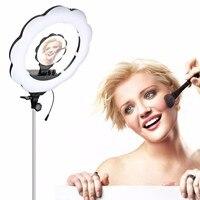 DHL Fotopal ES384 3000K 6000K Temperature Ra95 Bi Color 384pcs SMD LEDs Ring LED Video Light Fill Light with Makeup Mirro Camera