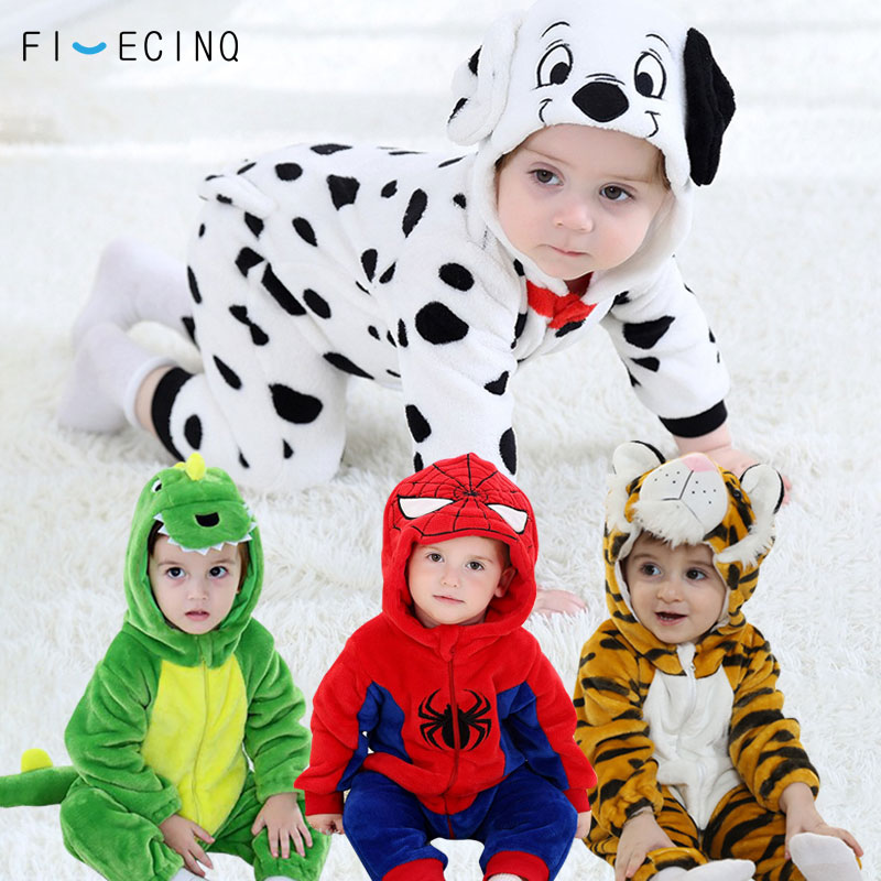 1-3 Years Old Baby Animals Cosplay Kigurumis Kids Onesie Cartoon Cute Sleep Suit Toddler Anime Costume Play Fantasias  Wholesale