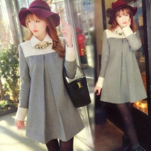 Fashion Cute Maternity Clothing Dresses For Pregnant Women Clothes Woolen One-piece Dress Autumn Winter