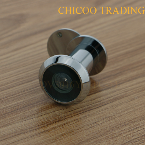 white chrome 200 Degree Brass wide angle door viewer Door Peephole Viewer with glass lens & Aliexpress.com : Buy white chrome 200 Degree Brass wide angle door ...