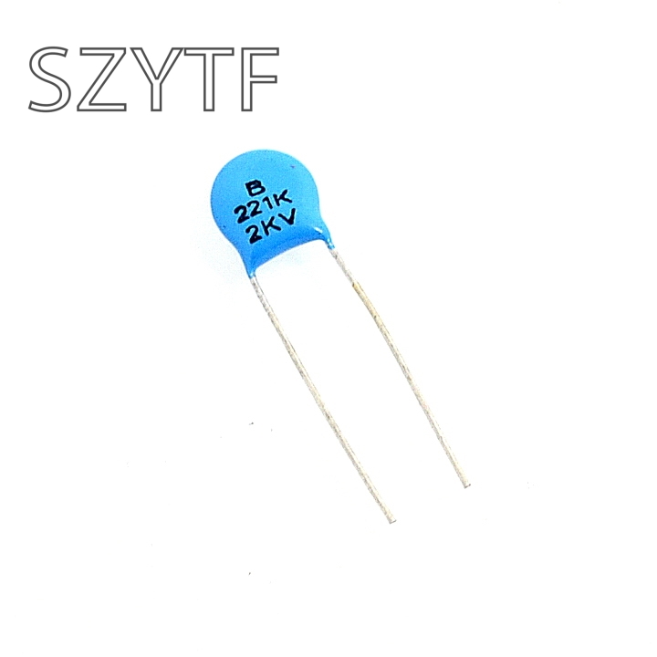 200pcs/bag high voltage 2KV 221K <font><b>220PF</b></font> 2000V ceramic <font><b>capacitors</b></font> image