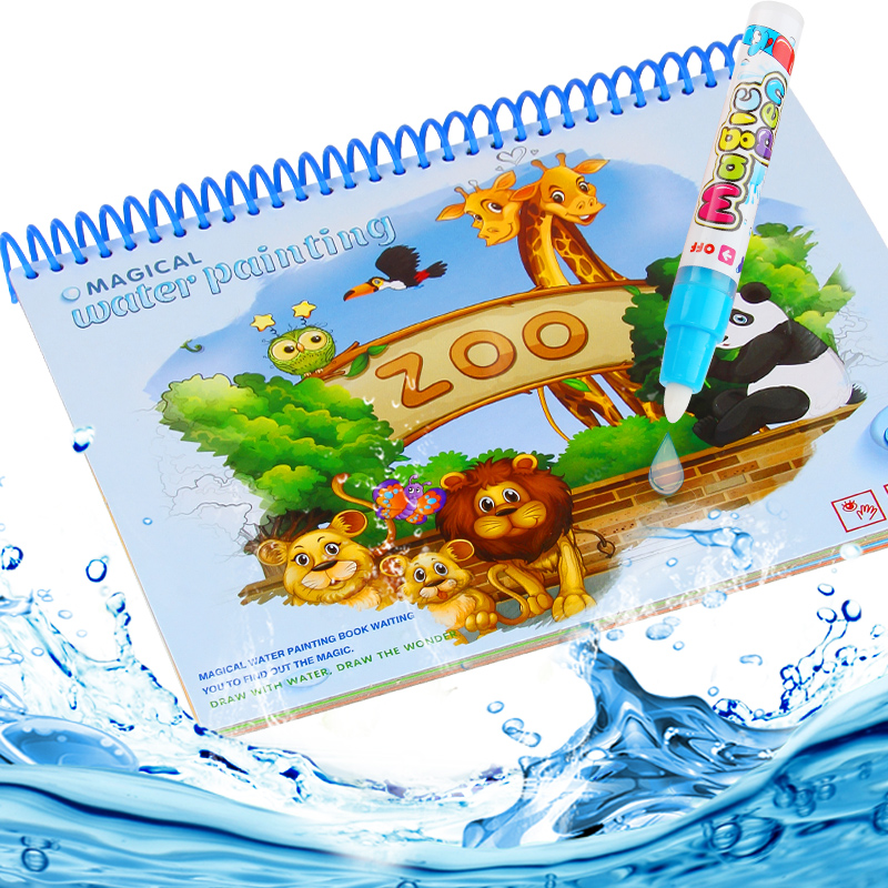 цена Coloring Book For Children Kids Painting Book Doodle Magic Water Drawing Book With Pen Magic Education Drawing Toy Gift NO BOX