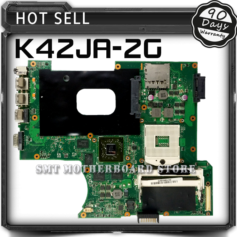 For ASUS K42J K42JA A40J X42J A42J HD5730 2GB REV:2.0 Laptop Motherboard System Board Main Board Card Logic Board Tested Well classic plaid pattern shirt collar long sleeves slimming colorful shirt for men