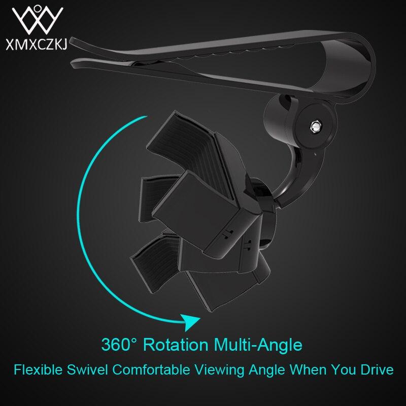 XMXCZK Phone Holder Car Sun Visor Mount Holder Universal 360 Rotating Stand For iPhone Samsung GPS Smartphone Holder
