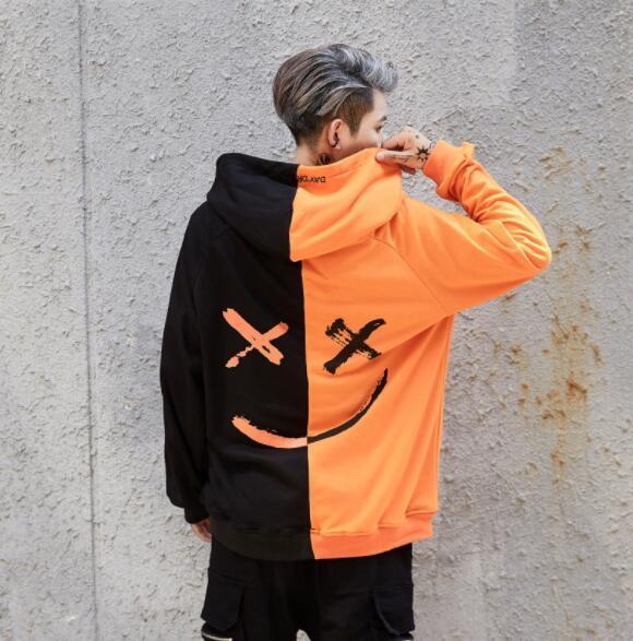 Mannen Hoodies Sweatshirts Glimlach Print Hoofddeksels Hoodie Hip Hop Streetwear Kleding Us size S-XL