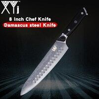XYj VG10 Дамаск Сталь Ножи G10 ручки 8 дюймов Damascu шеф повар Ножи Кливер овощи мясо Кухня Ножи High End Дамаск Ножи