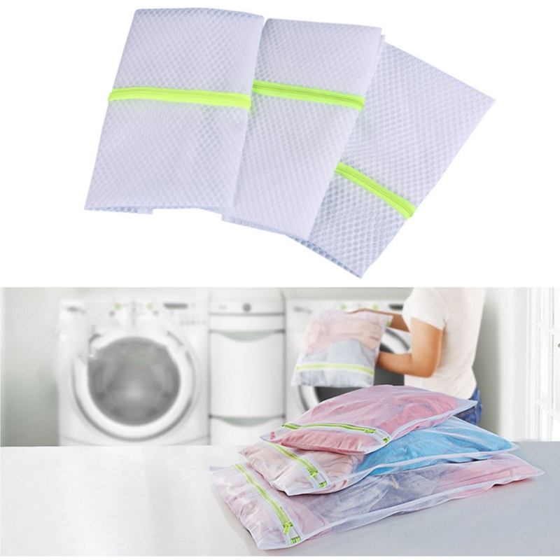 Home Storage Bags Mix Size Mesh Laundry Bags Washing Bra Lingerie Drying Bags With Zipper Protecting Wash Machine Bags
