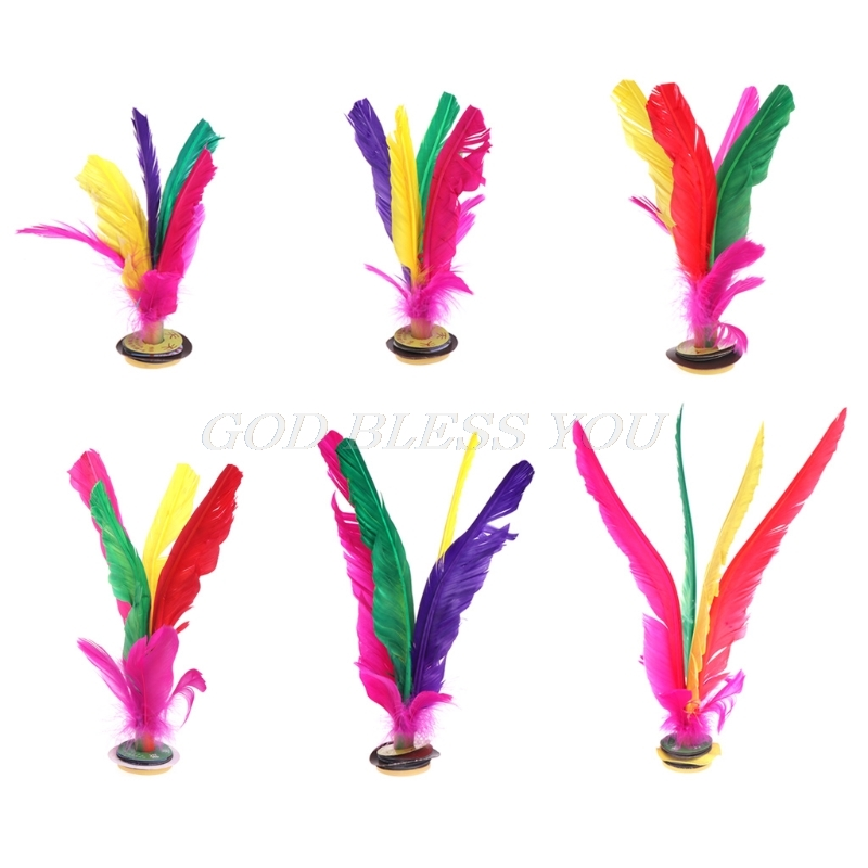 China Jianzi Footbal Foot Kick Handwheel Fancy Goose Feather Shuttlecock Fitness