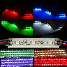 20 шт. водонепроницаемый DC12V супер яркий 7512 5050 3SMD RGB из светодиодов модуль строки канала петь письмо