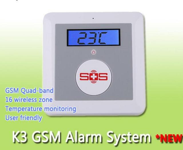 US $38 0 |IOS/Android APP SOS Call Alarm Wireless Emergency GSM Alarm  System Home Security Elderly Helper K3 kit(option like picture show)-in  Alarm