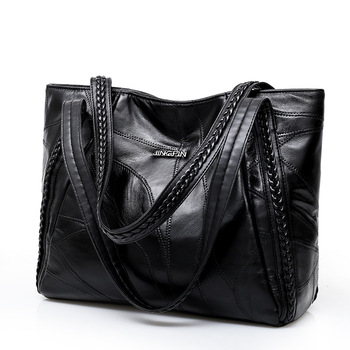 Женская сумка из натуральной овчины Лоскутная Повседневная Ручная сумка большая емкость женская сумка большая женские хозяйственные сумк...