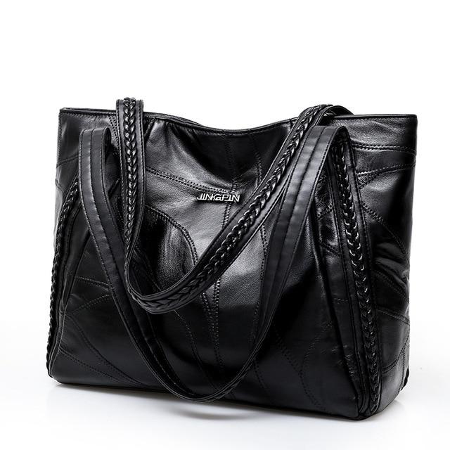 Женская сумка из натуральной овчины Повседневная Лоскутная Сумочка Большая емкость женщина сумка большая женские сумки 2018