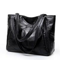 Women Tote Bag Genuine Sheepskin Patchwork Casual Hand Bags Big Capacity Woman Shoulder Bag Large Ladies