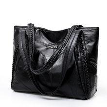 9ad94b6e0ec3 Для женщин сумка из натуральной овчины лоскутное Повседневное сумки большой  Ёмкость женская сумка большая женские сумки