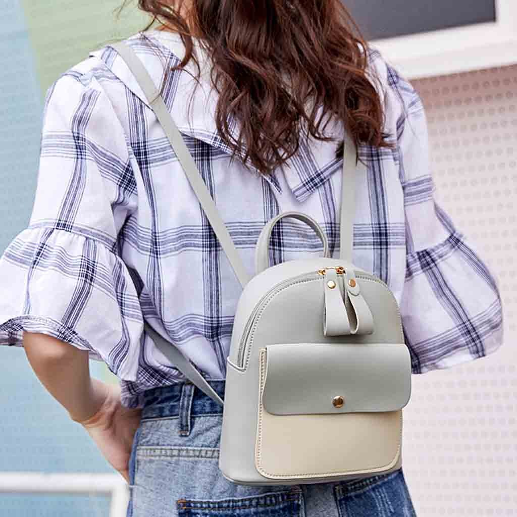 New Designer Fashion Women Backpack Mini Soft Touch Multi-Function Small Backpack Female Ladies Shoulder Bag Girl Purse #YY