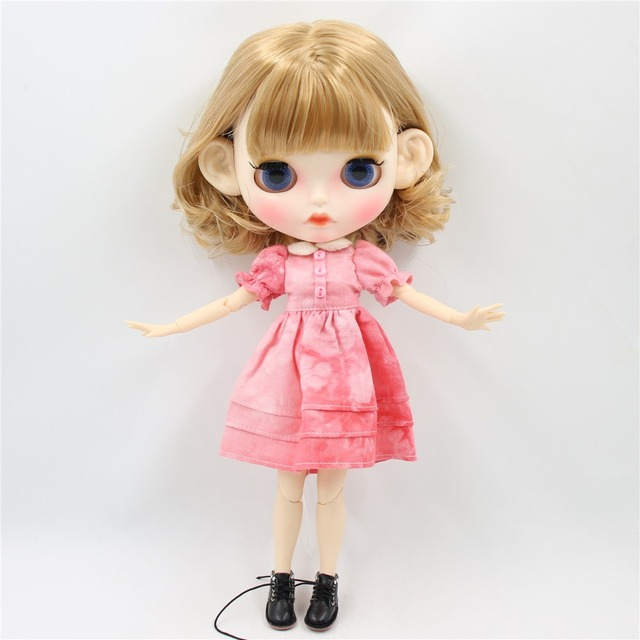Stella – Premium Custom Blythe Doll with Clothes Pouty Face