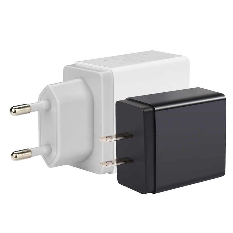 Universal 4 Port USB Charger Adapter Perjalanan Biaya Uni Eropa US UK Plug Multi Port Hub Charger untuk iPhone X Xiaomi mi9 Pengisian Cepat 3.0