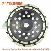 DIATOOL 7 180MM Diamond Double Row Grinding Cup Wheel 7 Inch Twin Row Grinding Disc