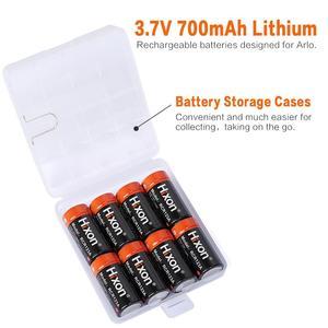 Image 5 - 16pc 700mAh 3.7V RCR123A CR123A 16340 batterie rechargeable pour caméras Arlo HD et Reolink Argus UL FCC certifié par Hixon