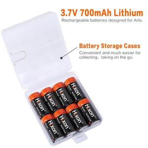 Image 5 - 16pc 700mAh 3.7V RCR123A CR123A 16340 rechargeable battery for Arlo HD Cameras and Reolink Argus UL FCC Certified made by Hixon