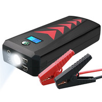 HCOOL Car Jump Starter Emergency Kit 24000mAh 1000A Peak Multifunction Quick Charge Power Bank Dual USB Charge Port Flashlight