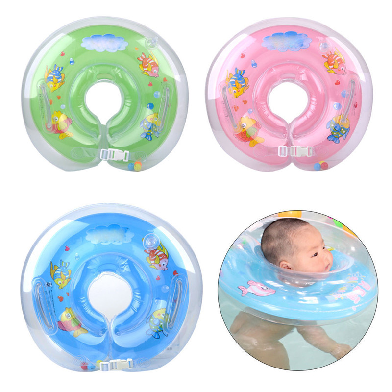 Inflatable Newborn Swimming Neck Swimming Pool Accessories Circle ...