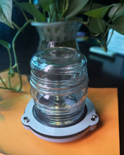 Bombilla de barco marino de 12 V, lámpara de señal de luz de navegación de 25 W, iluminación nocturna redonda de 360 grados, rojo/verde/blanco