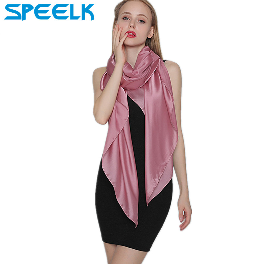 Brand New Women Silk   Scarf   Spring/Summer Pure Color   Scarves   Shawls And   Wraps   Ladies Foulard Hijab Stoles Dropshipping