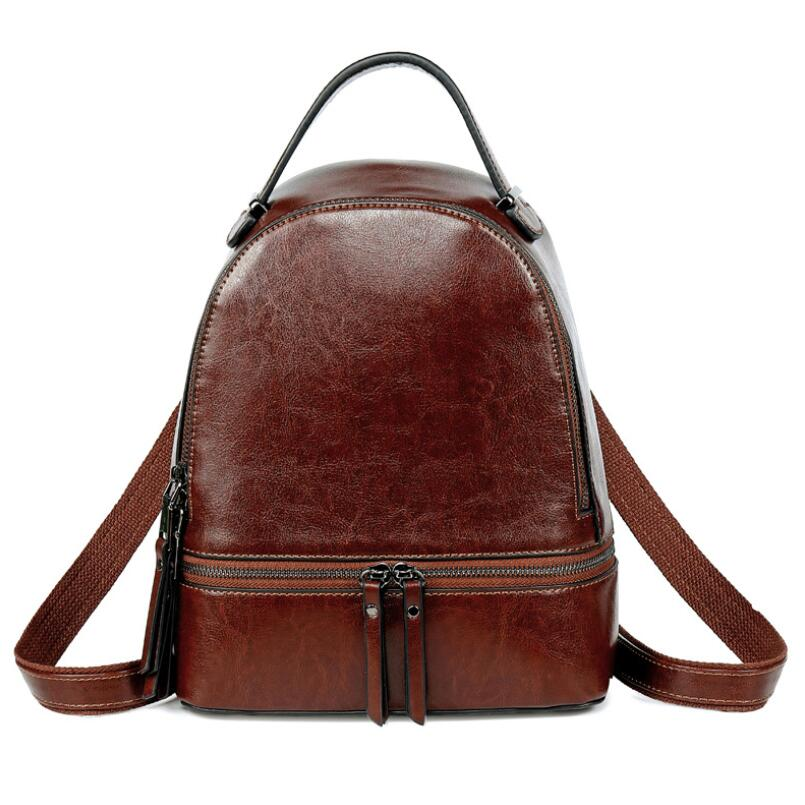 Fashion Women Genuine Leather Backpacks For Girl High Quality Female Shoulder Bags Teenagers Schoolbag Small Girl Travel BackpacFashion Women Genuine Leather Backpacks For Girl High Quality Female Shoulder Bags Teenagers Schoolbag Small Girl Travel Backpac